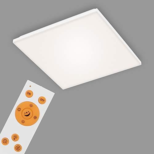 Briloner Leuchten Panel, lámpara de Techo LED Regulable, sin Marco, Temperatura de Color, Incluye Control Remoto, 24 vatios, 2800 lúmenes, Blanco, 450 x 450 x 75 mm