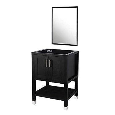 Bathroom Vanity Stand Cabinet with Vanity Mirror,Single MDF Cabinet