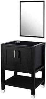 DOIT 24 inch Wood Bathroom Cabinet ,with Bathroom Vanity Mirror,No Sink,Modern Bathroom Vanity,Bathroom Vanity 24 inch, Espresso Wood Vanity Units,Free-Stand Vanity Set(NO Sink,NO TOP)