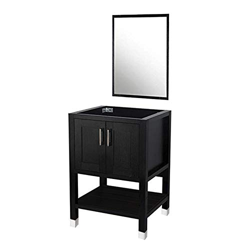 DOIT 24 inch Wood Bathroom Cabinet ,with Bathroom Vanity Mirror,No Sink,Modern Bathroom Vanity,Bathroom Vanity 24 inch, Espresso Wood Vanity Units,Free-Stand Vanity Set(NO Sink,NO TOP)