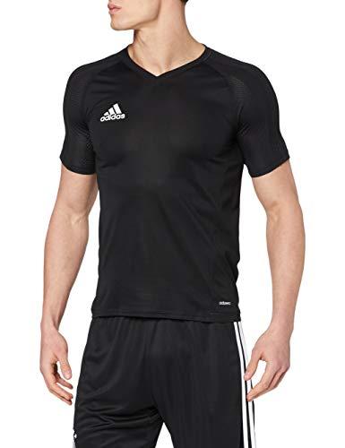 adidas Tiro 17 Training Jersey Camiseta, Hombre, Negro (Griosc/Blanco), M