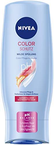 NIVEA Color Schutz Milde Spülung (200 ml), sanfte Pflegespülung mit Color Pflege-Komplex, Haarspülung für gesundes, gefärbtes Haar