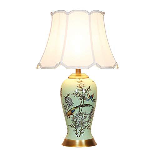 AI LI WEI mooie lamp/lamp van keramiek, woonkamer, slaapkamer, kantoor, bedlampje, Chinese lamp met bloemen en vogels