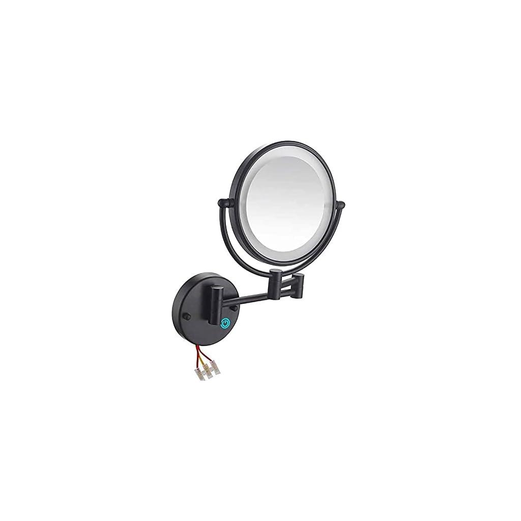 PYTRMHI Miroir Grossissant Lumineux Mural X10, Miroirs De Maquillage Double Face 360 ° Pivotant Extensible Miroir…