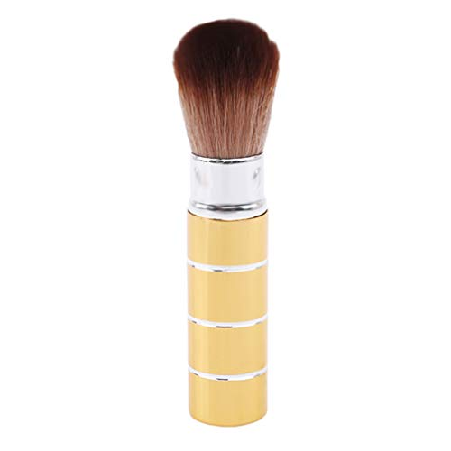 Sevenfly Brosse De Maquillage Souple Rétractable Pro Foundation Fards À Joues Cosmétiques Pinceaux Pour Le Visage Outils De Beauté(D'Or)