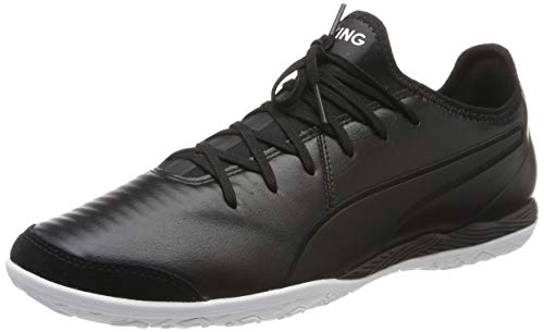 Puma King Pro IT, Chaussures de Futsal Mixte Adulte - Blanc et Noir - TAILLE 47 EU