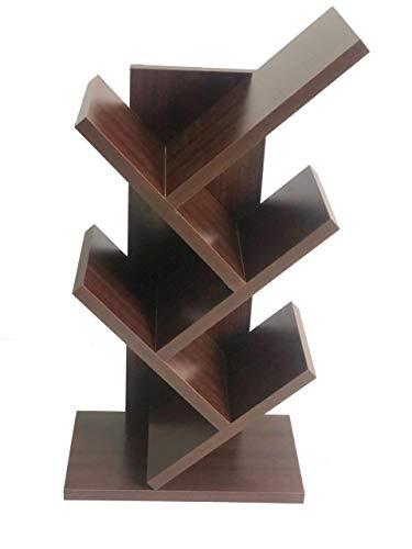 Paradox Studio Shelf Book Shelf Bookcase Artistic Book Organizer Space-SavingBooks Holder in Living Room Office -mohagany