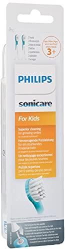 Philips Sonicare HX6032/33 Pack da 2 Testine di Ricambio For Kids Mini per Spazzolino Elettrico Sonico, Per Bambini dai 3 ai 6 anni
