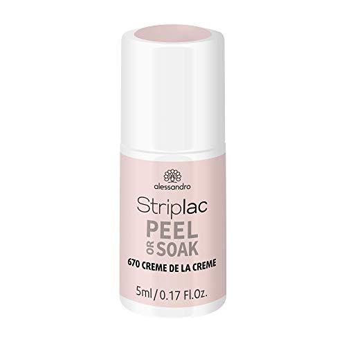alessandro alessandro Striplac Peel or Soak Creme De La Creme - LED-Nagellack im cremigen Rosa- Für perfekte Nägel in 15 Minuten, 5ml 1er Pack(1 x) 5 ml