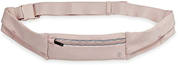 Gaiam Fanny Pack Running Belt Bag - Excursion Waist Pack Slimfit Adjustable Exercise Gym Workout Pouch Jogging Bag, Multi Pocket Walking, Runner Accessories Women, Men - Blush