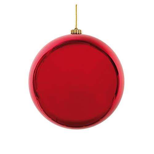 Decor Service Weihnachtskugel XL, Rot, 15cm