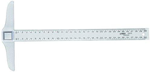LINEX 100413064 Reißschiene mit zwei Facetten zum Skizzieren 300 mm lang 27 mm breit, glasklar