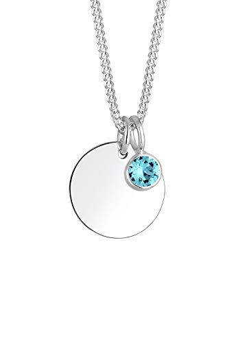 Elli Halskette Damen Geburtsstein April mit Swarovski® Kristalle in 925 Sterling Silber