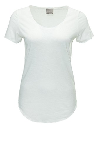 VERO MODA Damen T-Shirt VMLUA SS TOP NOOS, Gr. 34 (Herstellergröße: XS), Weiß (Snow White)