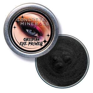 Concrete Minerals Eye Primer, Luxurious Silky-Soft Balm Formula, Longer-Lasting With No Creasing, Black Finish, 100% Vegan and Cruelty Free, Handmade in USA, 10 Grams (Obsidian)