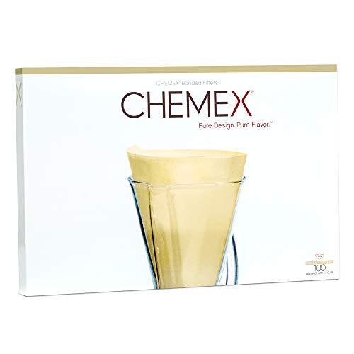 Chemex FP-2N | Natur-Halbmondfilter | Box mit 100 Filtern
