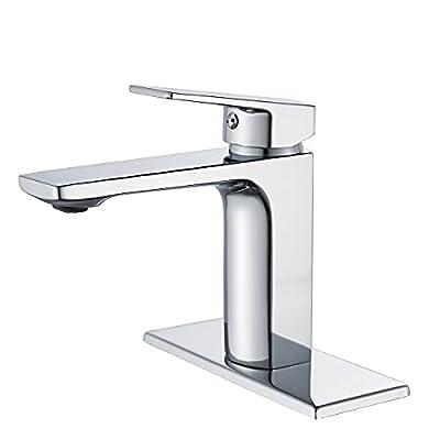 Chrome Bathroom Faucet Single Handle One Hole Bathroom Sink Faucet Lavatory Faucet with Deck
