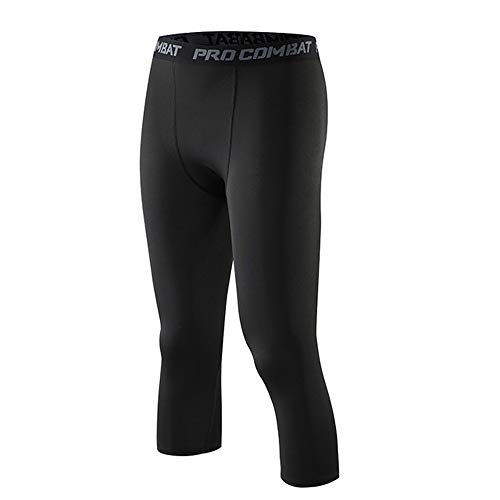 Broeken A compressiebroek voor heren 3/4, sneldrogende basketbal, hoge elasticiteit rompler sport fitness training leggings