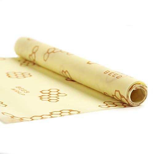 """Bee's Wrap Reusable Beeswax Food Wrap, Extra Large XXL Roll - Eco Friendly, Plastic Free, All Natural Storage Wrap - 14"""" x 52"""""""