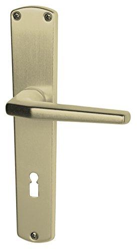 Alpertec 40400010PO Aluminium Phil-LS Langschildgarnitur für Zimmertüren in F2 eloxiert BB 72 MM Drückergarnitur Türdrücker Türbeschläge Neu