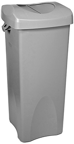 Read About Rubbermaid Commercial Products Untouchable Square Trash/Garbage Container with Lid, Gray ...