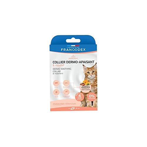 Francodex-Collar Dermo- Calmante y Repelente para Gatos y Gatos FR-175405