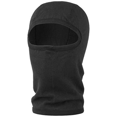 Lipodo Sturmhaube Damen/Herren - Skimaske aus Baumwolle - Schlupfmütze Thermoaktiv - Balaclava Winter - Wintermütze schwarz One Size