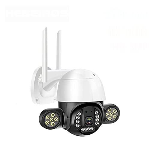 KANGLE-DERI HD 5MP Auto Human Tracking IP66 Impermeable LED al Aire Libre LED FLUYARTE 1080P Color Vision Seguridad CCTV IP PTZ WiFi Cámara