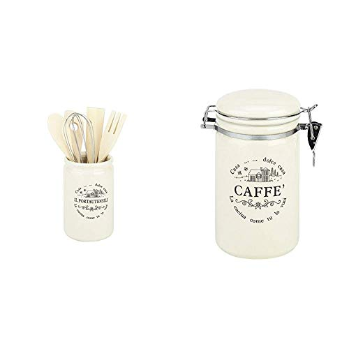 Tognana Dolce Casa di Campagna Home, Acciaio Inossidabile & Coffee Dolce Casa di Campagna Home, Porcellana, White
