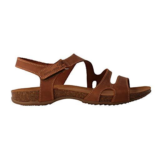 INTERBIOS 4441 Damen Sandalen Leder, Leder - Größe: 37 EU