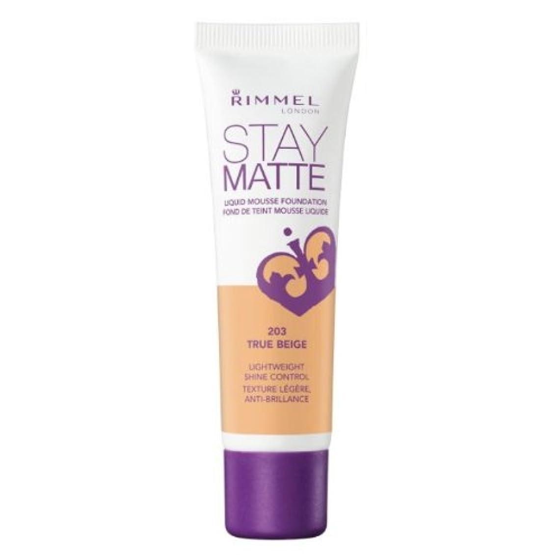セクションスタイル責任(6 Pack) RIMMEL LONDON Stay Matte Liquid Mousse Foundation - True Beige (並行輸入品)