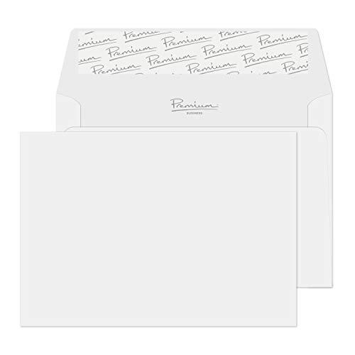 Blake Business 37154 Briefumschläge Haftklebung Brilliant Weiß Wove C6 114 x 162 mm 120 g/m² | 25 Stück, brilliant weiß wave
