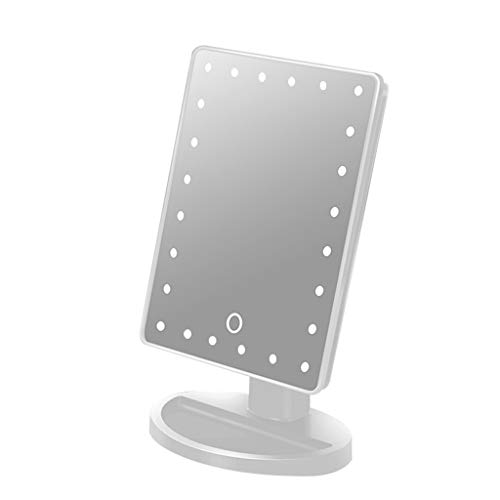 WERTDERTO LED make-up spiegel met licht Smart Beauty desktop spiegel meisjes zwart USB opladen