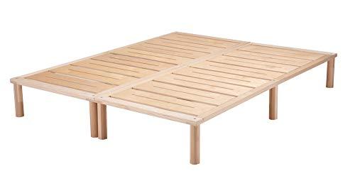 Gigapur G1 26981 Bett | Bettgestell mit Lattenrost | Birke Natur Schicht-Holz | belastbar bis 195 kg je Element | Holzbett 160 x 200 cm