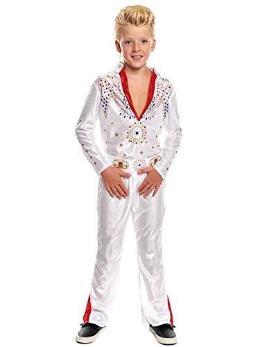 Partylandia Disfraz de Elvis Infantil - Niño, de 10 a 12 años