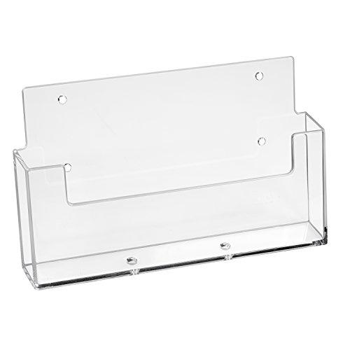 Prospekthalter Wand Din A5 Querformat/Flyerhalter, transparent