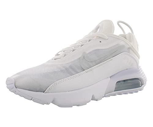 Nike Herren AIR MAX 2090 Laufschuh, White/White-Wolf Grey-Pure Platinum-Reflect Silver, 42 EU
