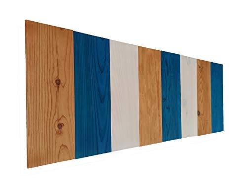 EPIEZA Cabecero Vertical Colores para Cama de Madera de Pino. Fabricado con Listones tratados. Incluye colgadores de Pared, tornillería y Tacos. (para Cama de 150 (160cm x 60cm), C2)