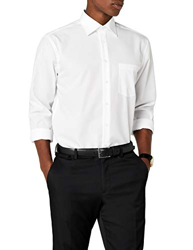 Seidensticker Herren Business Hemd Regular Fit Langarm, Weiß (01 Weiß), 43