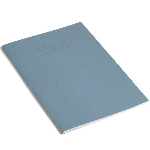 Rhino - Quaderni per esercizi S7, formato A4, 80 pagine, confezione da 10, colore: Celeste
