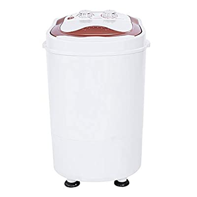 Greensen Mini Washing Machine, Single Tub Washing Machine Full-Automatic Laundry Washer Spinner UK Plug for Dorms Apartments, 21.26 x 13.78 x 13.39in, 220V UK Plug