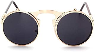 Metal Punk Steam Sunglasses Clamshell Sunglasses for Men and Women Hipster Sunglasses