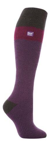 LONG SKI Heat Holders Thermal Socks womens purplegrey 4 8 uk 37 42