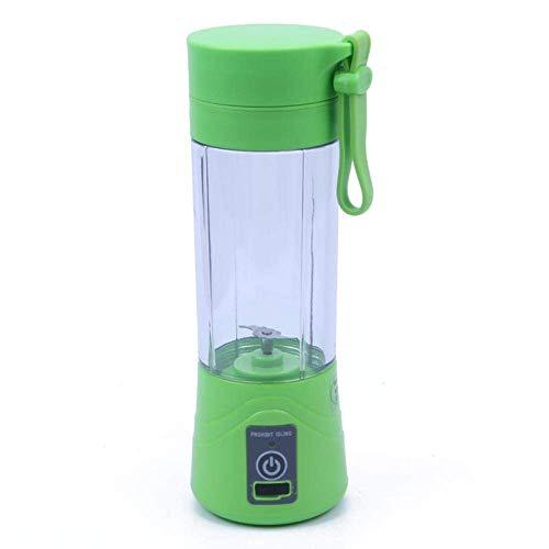 380 Ml Usb Recargable Licuadora Exprimidor Portátil Jugo Máquina Batidora Batidora Home Mini Extractor de Jugo Fácil de Usar Clean Nutrition Multi Green, O&YQ