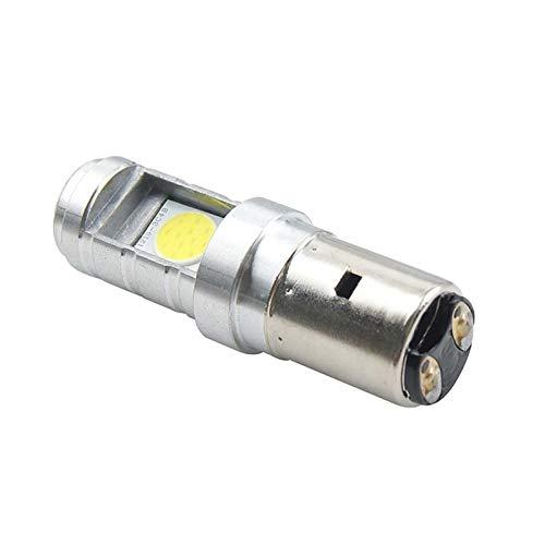LDJ Moyorbike Luces Adicionales 1 unids 12W H6 BA20D PX15D Bombilla de la Bombilla de la Bombilla LED de la Bombilla HI/LUGA DE Fuera DE LA Fuera DE Light (Socket Type : BA20D)