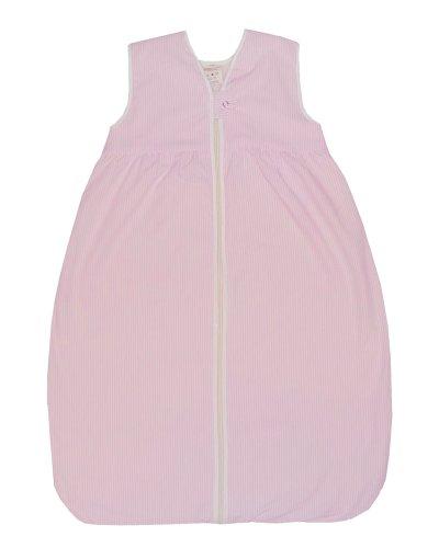 Lana Natural Wear Baby - Mädchen Schlafsack Plüsch Streifen, Gestreift, Gr. 120, Rosa (Rosa/Weiß 1059)