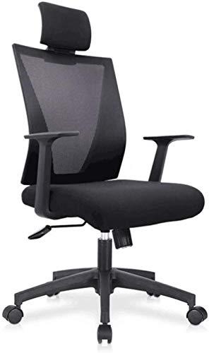 HZYDD Sedia da Ufficio ergonomica Boss, Indietro Casual Casual Modern Minimalista Casa reclinabile Sedia da calcolatore, Nero, Nero, Nome del Colore: Nero (Color : Black)