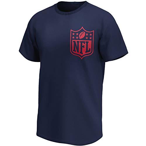 Fanatics NFL SHIELD - Camiseta de fútbol triple logo azul marino - L