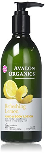 Avalon Organics Hand & Body Lotion, Lemon, 12 oz (2-Pack)