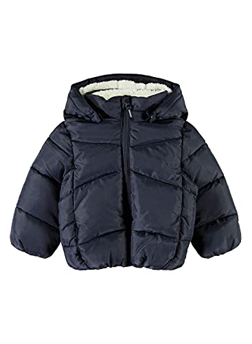 NAME IT NMMMAKE Puffer Jacket Camp Chaqueta de Invierno, Azul Oscuro (Dark Sapphire), 86 cm para Niños